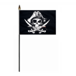 Pirate Crossed Sabres Hand Flag - Small